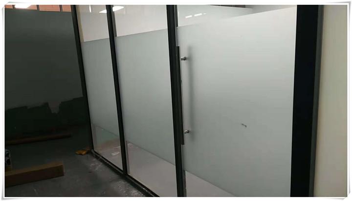 办公室玻璃隔断磨砂膜